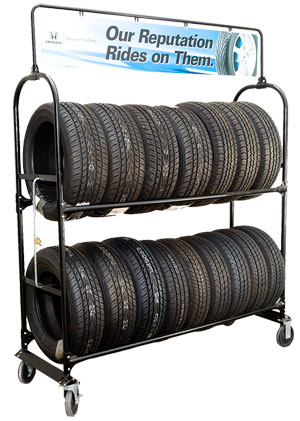 Rolling Tire Storage Rack >> Mobile Tire Racks | Tire Displays Wheels, Tire Racks, Tire Stands, Tire Hangers